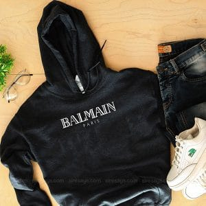 Balmain Logo Hoodie Custom T Shirts Gift For Him Or Her