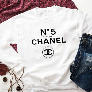 Chanel Number 5 Sweatshirt Inspired Crewneck Sweater