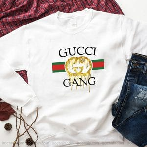 Glitter Gucci Gang Sweatshirt Inspired Crewneck Sweater