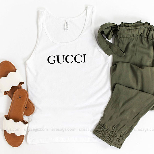 Gucci Logo Tank Top Unisex T Shirt Inspired Sweatshirt