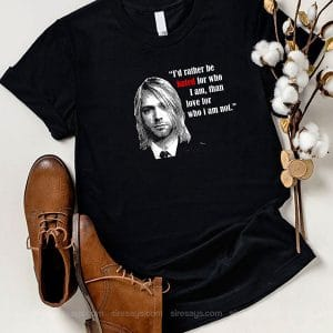 Kurt Cobain Art T Shirt Unisex Hoodie Gift For Men Women
