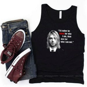 Kurt Cobain Art Tank Top Unisex T Shirt Inspired Sweatshirt
