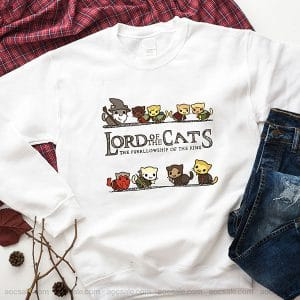 Lord Of The Cats Funny Sweatshirt Inspired Crewneck Sweater